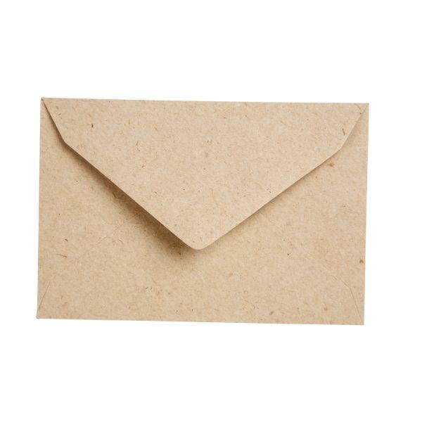 Briefumschläge Kraftpapier groß, 16,2 x 22,7 cm, für DIN A5 Karten, 30 Stück