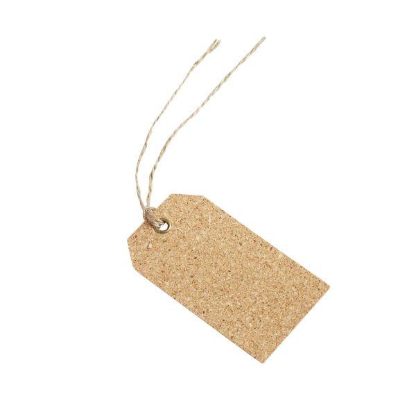 Geschenkanhänger aus Kork, 9 x 5 cm, 4 Stück