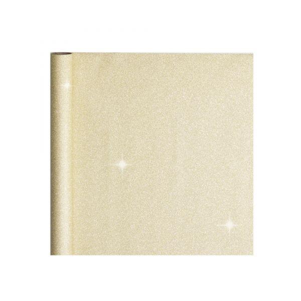 Geschenkpapier Rolle gold-glitter, B 50 cm, 3 m