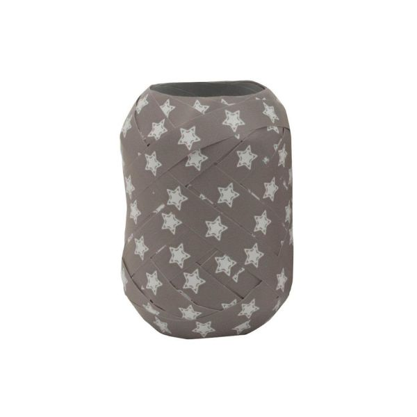 Geschenkband Stern, grau-weiß, B10 mm, L20 m
