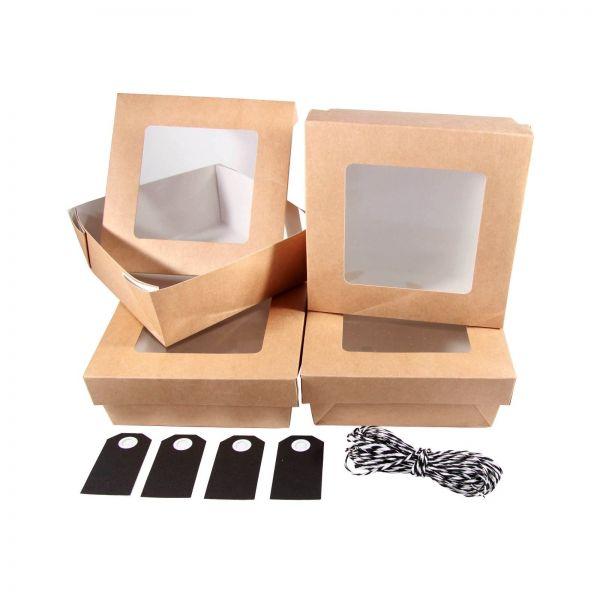 BODA Schachtel Set Window Schwarz, 9-tlg.