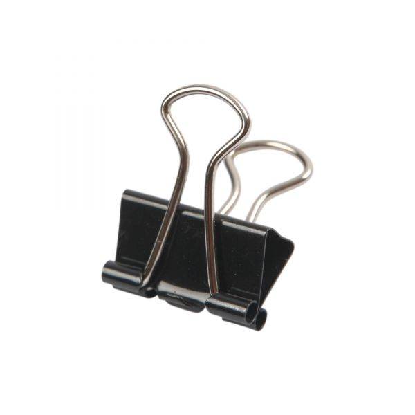 Foldback Klammer klein schwarz, B 19 mm, 40 Stück