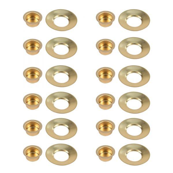 Kerzentülle und Tropfenfänger, 12er-Set