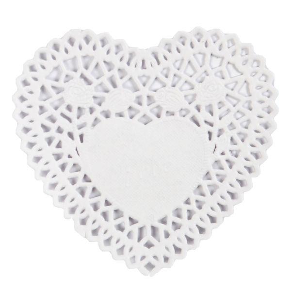 BODA Tortendeckchen Herz Ø ca. 10 cm, 12 Stück