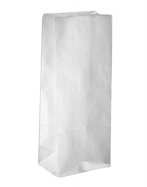 Papiertüten Blockbodenbeutel weiß, 10 x 6 x 24 cm, ca. 46 g/qm