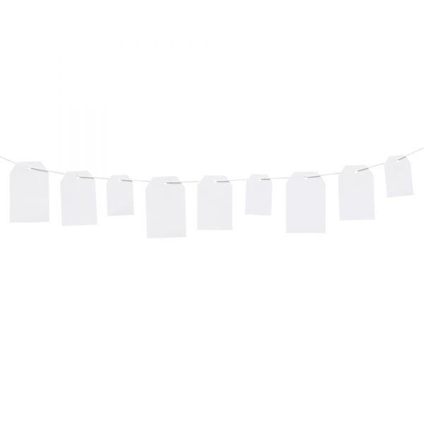 30 Geschenkanhänger Etikett, weiß, sortiert in 3 Größen