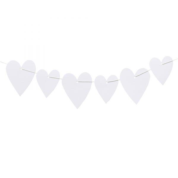 20 Geschenkanhänger Herz, weiß, sortiert in 2 Größen