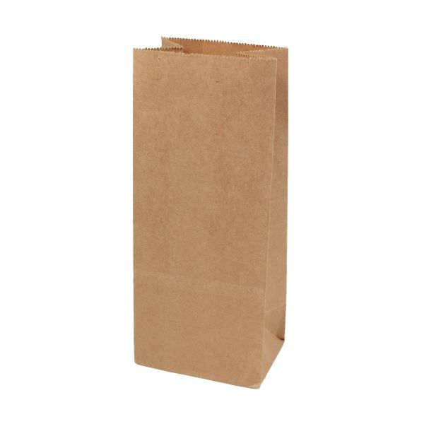 BODA Blockbodenbeutel Klein aus Kraftpapier, ca. 8x6,5x19cm, 10 Stück