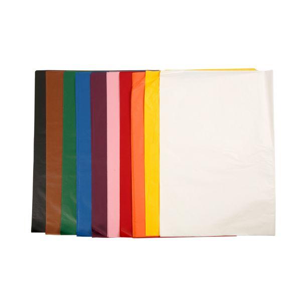 Seidenpapier 50 x 70 cm Groß-Pack, 250 Blatt sortiert