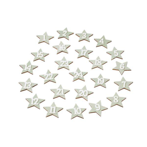Adventskalenderzahlen Stern, ca. 3,9 cm, mint
