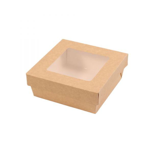 Schachtel mit Deckel und Sichtfenster 13,5 x 13,5 x 5 cm