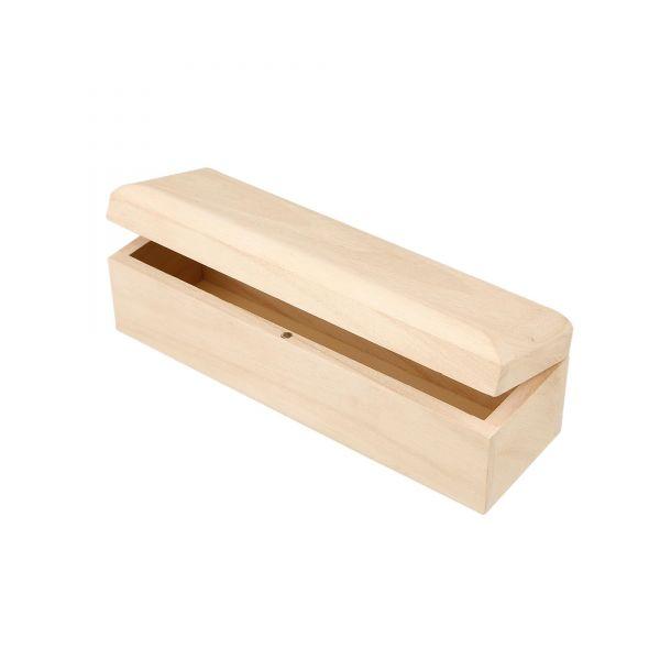 Holzkiste mit Magnetverschluss, ca. 20 x 6 x 6 cm