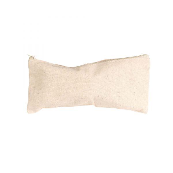 Kleine Tasche mit Reißverschluss, 21 x 9 cm, natur