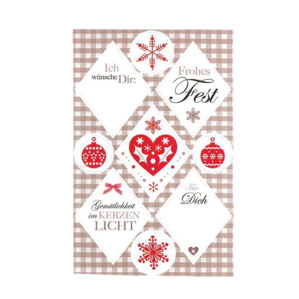 36 Weihnachtsaufkleber Frohes Fest