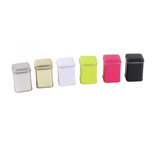 Mini Blechdose mit Deckel B 4,4 x L 4,4 x H 6 cm