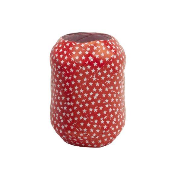 Geschenkband Sternchen, rot-weiß, B10 mm, L20 m