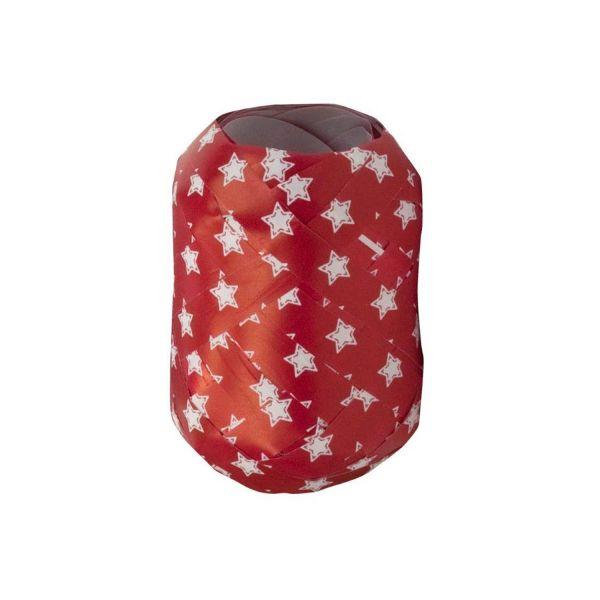 Geschenkband Stern, rot-weiß, B10 mm, L20 m