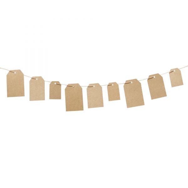 30 Geschenkanhänger Etikett, natur, sortiert in 3 Größen