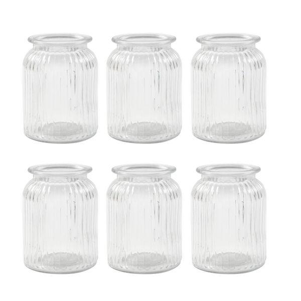 Glas Vintage, H 14,5 cm, D 11 cm, 6 Stück