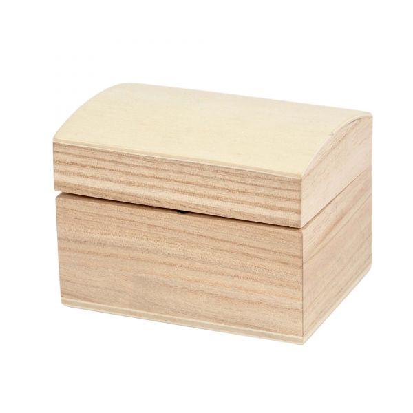 Holzkästchen mit Magnetverschluss, ca. 7,8 x 6 x 5,8 cm
