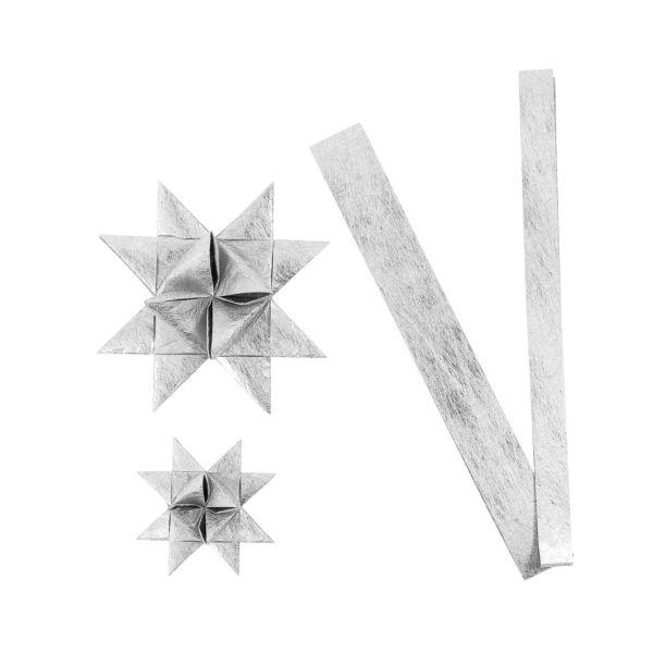 Fröbelsternstreifen silber, 32 Papierstreifen